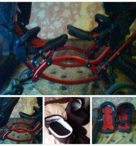 Продам коляску,4люльки(2 зима -2 лета)сумка/мамы