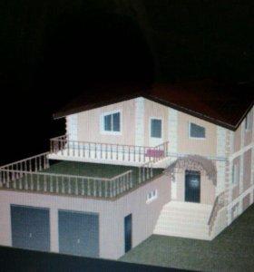 Трёхуровневый дом в минино