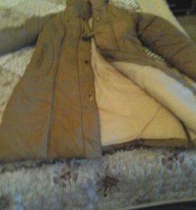 Пальто зимнее на сентипоне/ очень тёплое