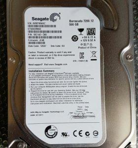 Накопитель HDD 500 Gb б/у