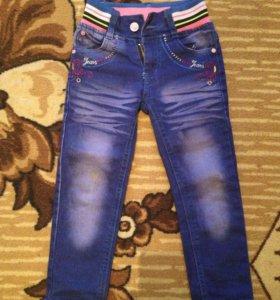 джинсы на девочку.