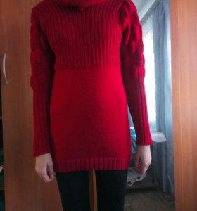 Теплая туника, пуловер