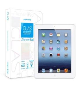 Защитное стекло для iPad 2/3/4 установка бесплатно