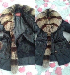 Зимняя курточка с натуральным мехом