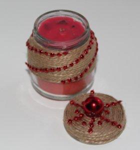 Праздничная свеча handmade