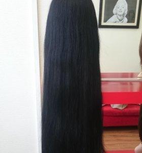 Натуральный парик с имитацией кожи головы