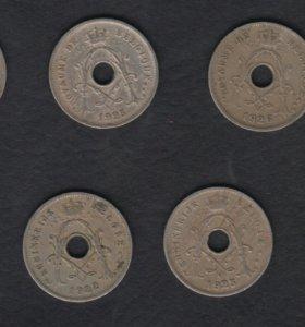 Бельгия 5 сантимов 7 монет