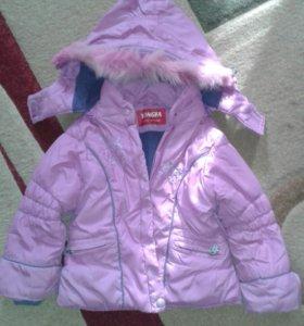 Куртка зимняя девочки до трех лет
