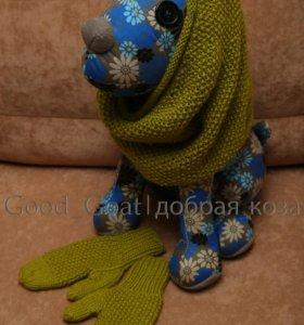 Снуд-шарф + варежки