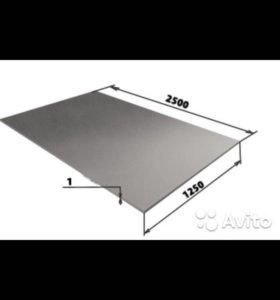 Продам лист оцинкованный 1мм 1200мм*2500мм