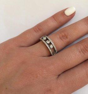 Новое золотое кольцо с брил. 0.5 ct Messika