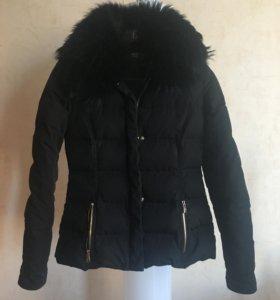 Женский тёплый приталенный пуховик куртка Versace