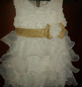 Платье для девочки на 1,5-2года.