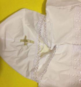 Новая крестильная рубашка 68-74 р