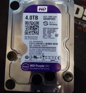Жёсткий диск HDD WD4NPURX WD Purple NV 4 TB