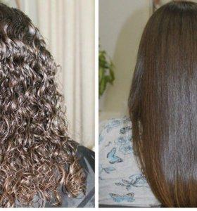 Кератиновый выпрямления волос