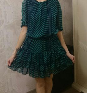 Платье шифоновое М