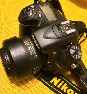 Фотоаппарат Nikon d7100+ объектив
