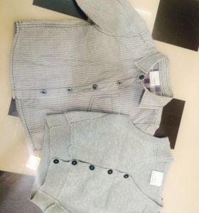 Комплект рубашка с жилетом Некст 6-9 мес