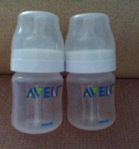 Молокоотсос и две бутылочки AVENT