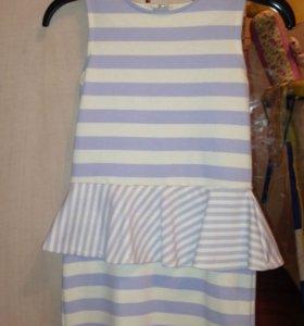 Платье с баской на девочку 110-116