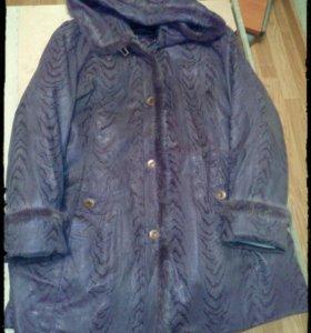 Пальто зимнее 56-58р.