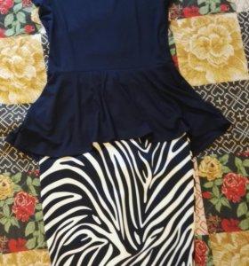 Комплект юбка + футболка
