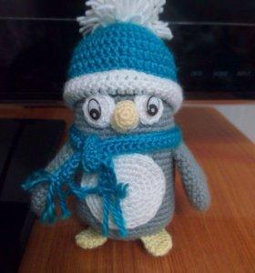 вязаный пингвин (ручная работа)