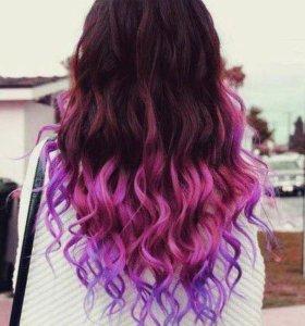 Мелки для волос безумно яркие цвета