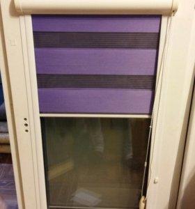 Окно с касетными  жалюзи