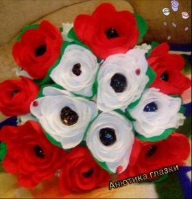 Букет из конфет '' Английская роза''