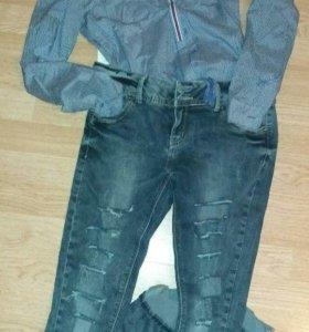 Боди 46 джинсы 48