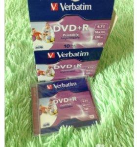 Диск Verbatim DVD-R с поверхностью для печати