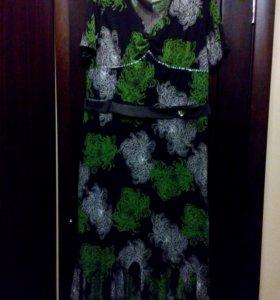 Нарядное платье в пол 56-58