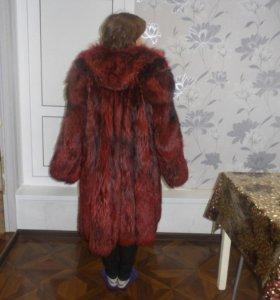 Теплая Шуба из чернобурки