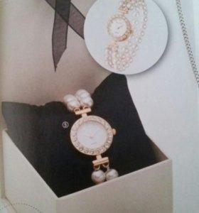Часы розовый жемчуг