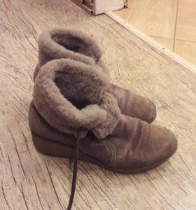 Ботинки зима нат замша нат мех
