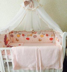 Балдахин на детскую кроватку с держателем