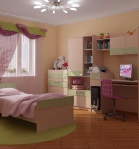 Модульная детская комната. Кровать