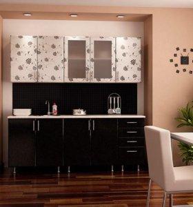 Кухня Азалия черно-белая