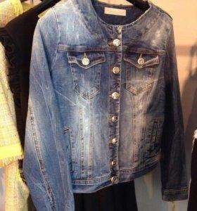 Итальянская джинсовая куртка Roberta Biagi