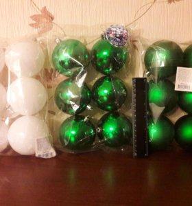 Новогодние шары в наборе 6 шт