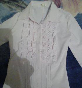Блуза школьная для девочки 9-10лет
