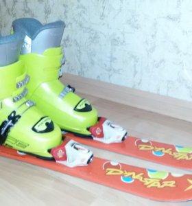 Горнолыжные ботинки + лыжи