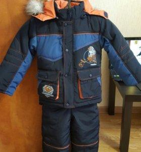 Зимний детский костюм.