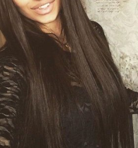Темные волосы на заколках!!!