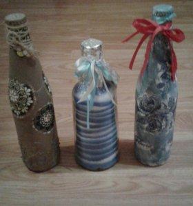 Декор- бутылки