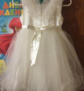 Платье детское и нарядная шубка! Sale!!!