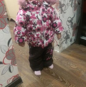 Зимний комбинезон на девочку комбинезон и куртка