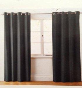 Черные шторы Next новые